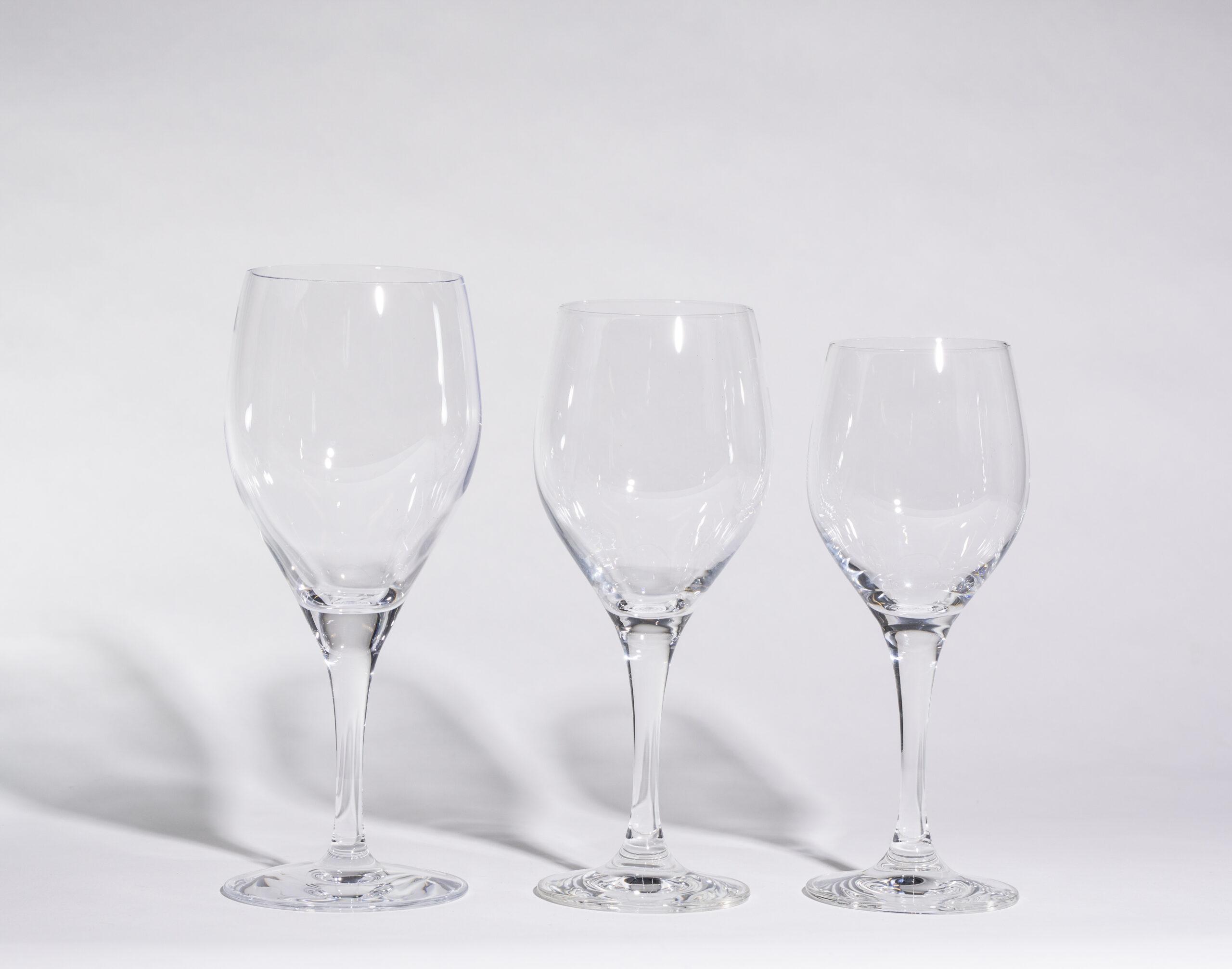 Wine glasses (14,10 or 8oz, stemmed)
