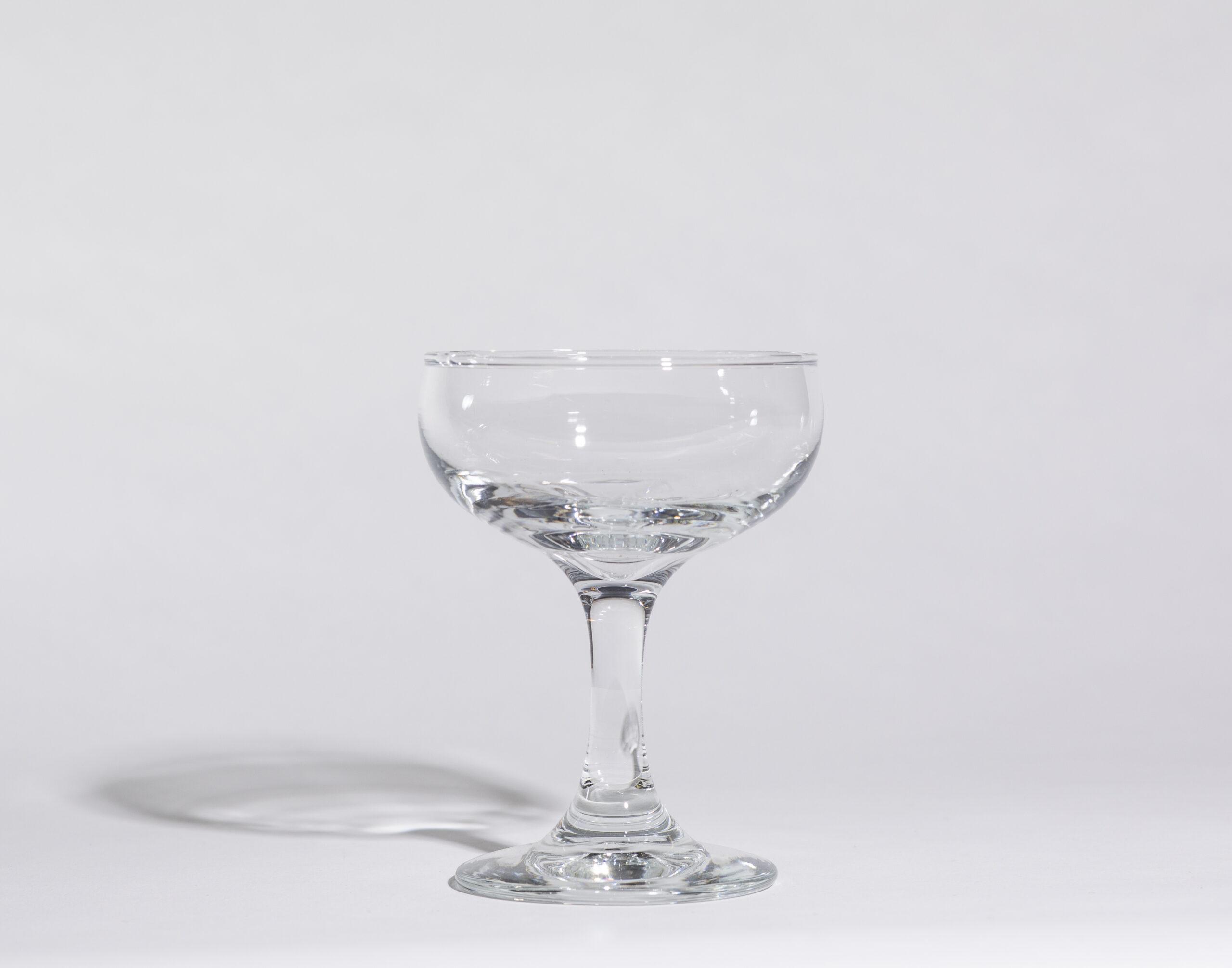 Champagne saucers (4oz, stemmed)