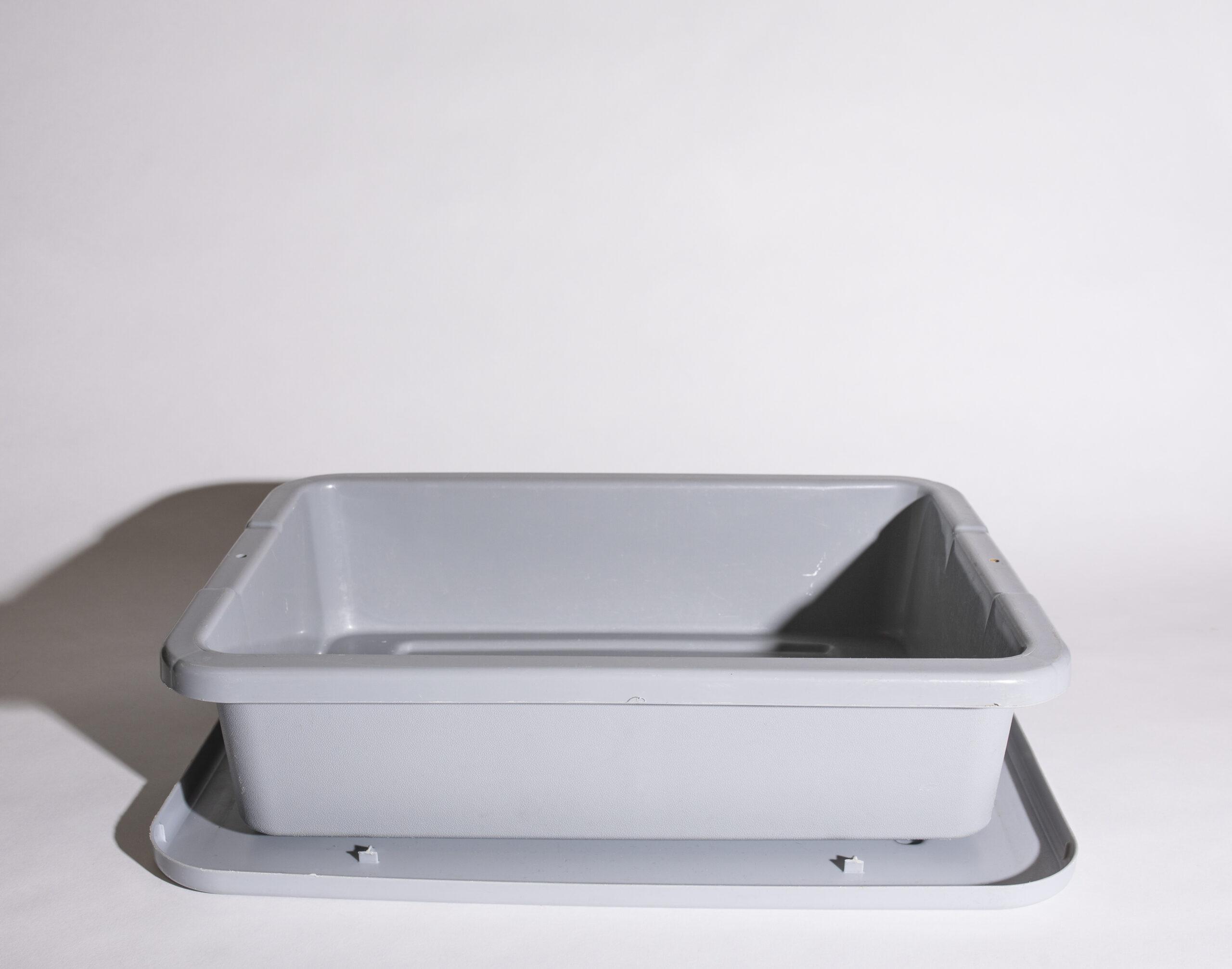 Bus pan & lid (grey, plastic)