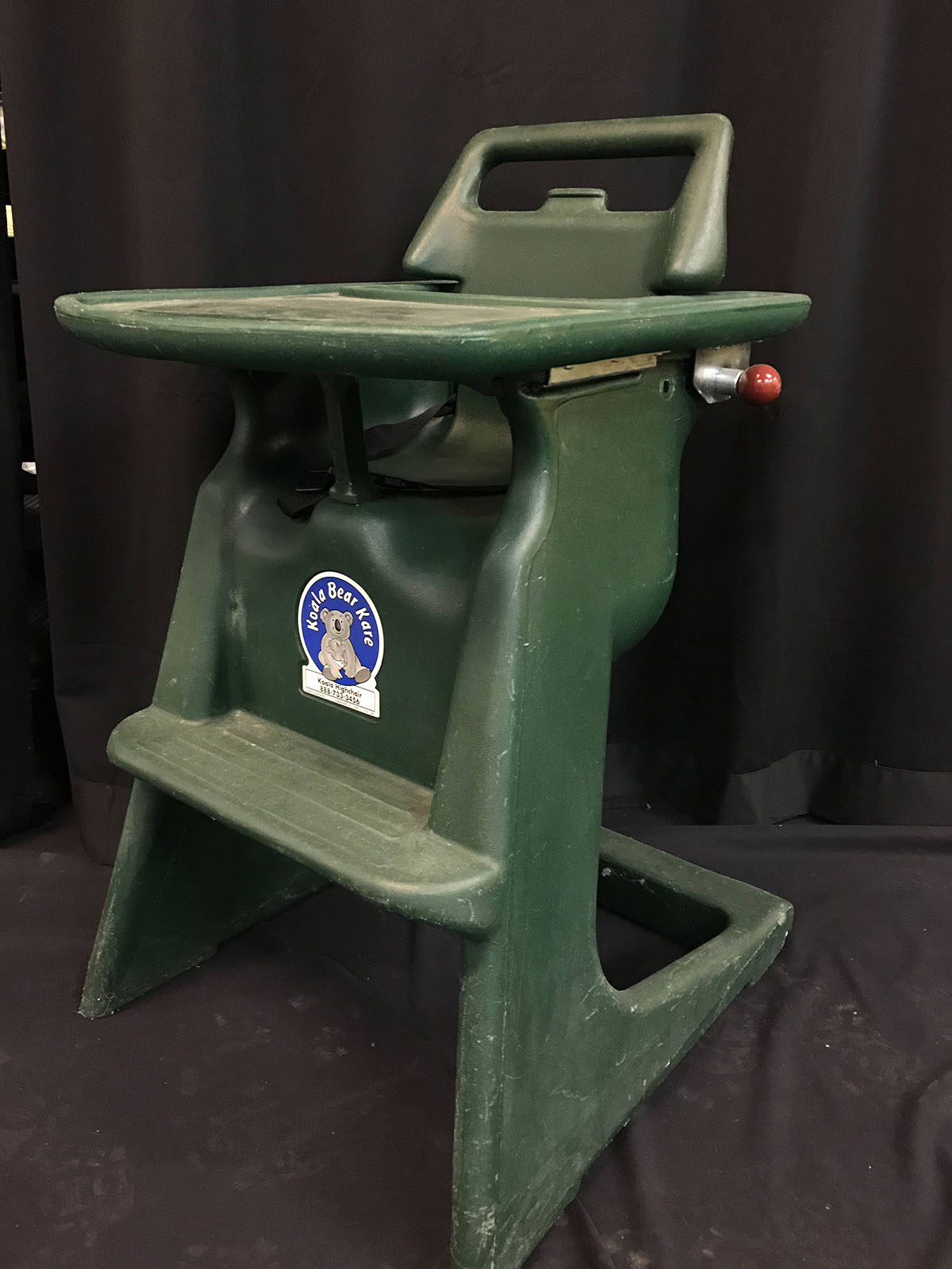 High chair (green, plastic)
