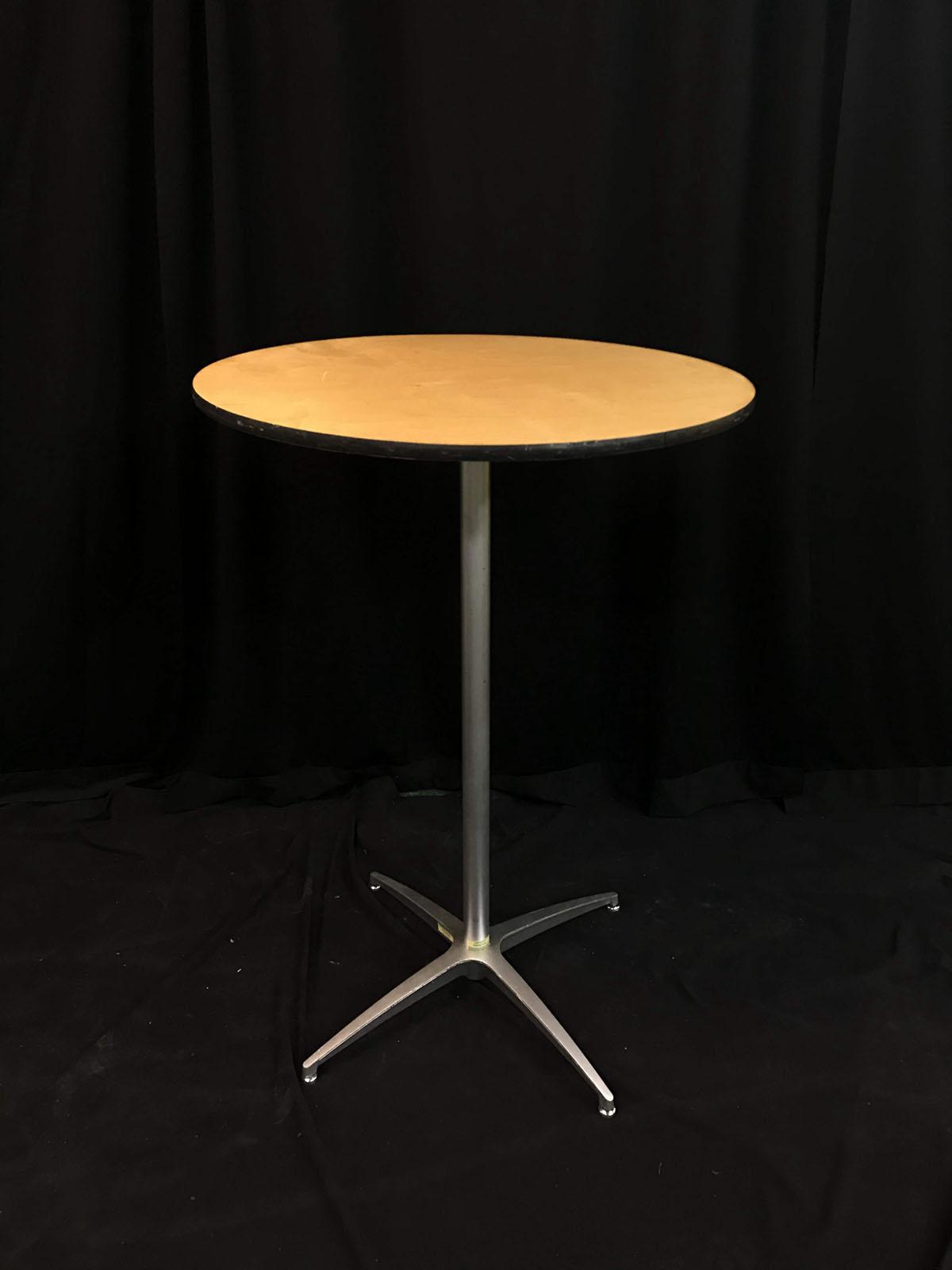 Cocktail (30''round, 42''high, wood)